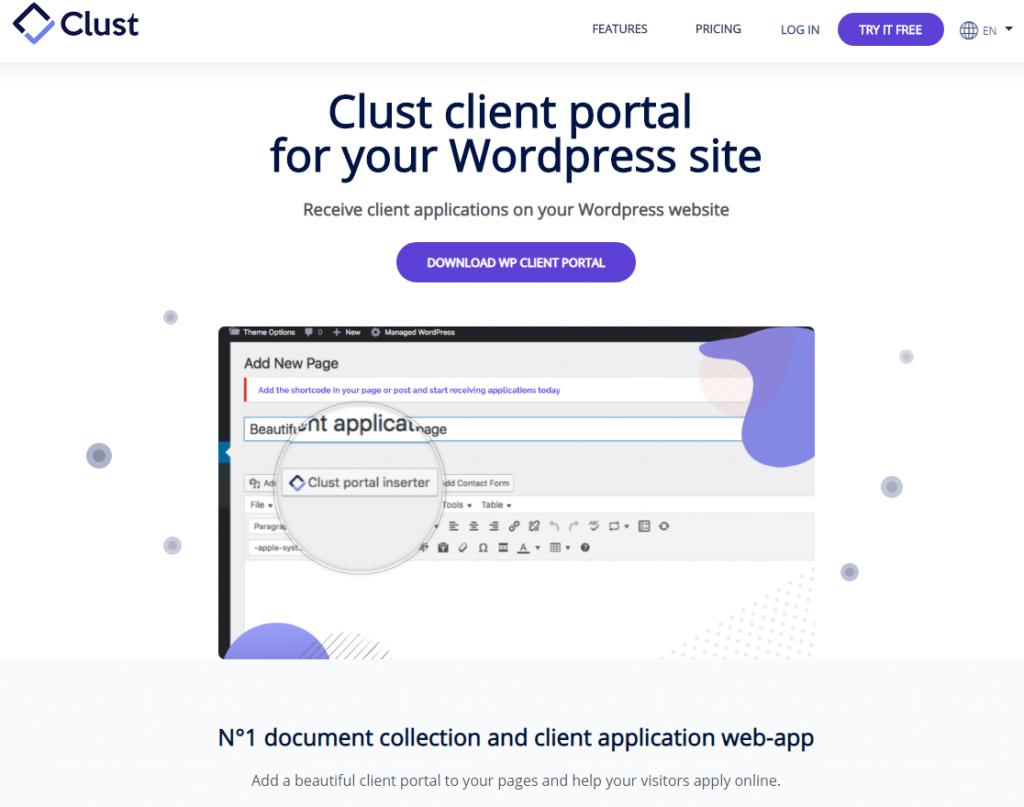 client portal plugin
